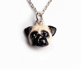 a charming pug pendant for dog owners who love Pugs by Dog Fever jewelry made in Italy