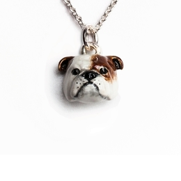 Dog Fever English Bulldog breeder gift of sterling silver fine quality hand crafted jewelry made by Dog Fever jewelers in Italy.