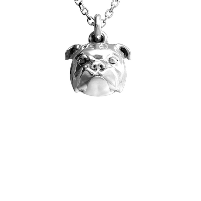 Excellent quality pet owner gifts made by Dog Fever the English bulldog breed necklace for a great dog owner gift.