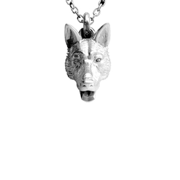 German Shepherd dog breed owners best gifts. Sterling silver high quality miniature dog portraits from Dog Fever Jewelers.