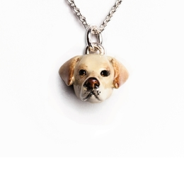 Good gifts for dog owners of Labrador retrievers. Necklace pendant charms fine quality jewelry from Dog Fever made in Italy, Italian jewelry design.