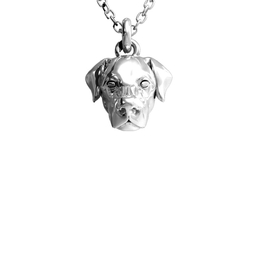 Doge Fever Dog head necklace. Pendant of the Lab from Dog Fever. Labrador Retriever necklace.