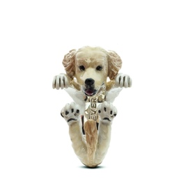 Dog Fever Dog Breed gifts Golden retriever dog ring in color enamel the most popular dog in the united states.