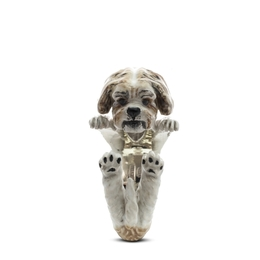 buy the adorable Dog Fever hug ring from the jewelers who make the best quality dog pet owner hug ring  jewelry gifts