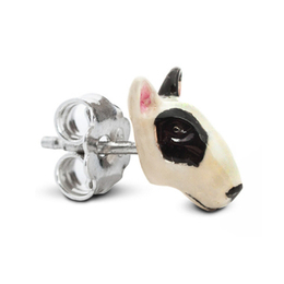 Bull terrier dog breed pet owners will love these dog face earrings from Dog Fever Italian designers.