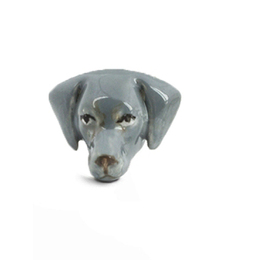 fine jewelry and great gifts for Weimaraner dog breed owners hand crafted jewelry of dog heads from dog fever jewelers.