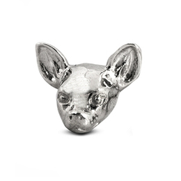 Dog Fever dog head Chihuahua breed sterling silver earrings that are comfortable to wear and a good gift for dog lovers.