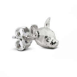 fine quality great gifts for dog owners Chihuahua dog head silver earrings of the Chihuahua dog breed's face