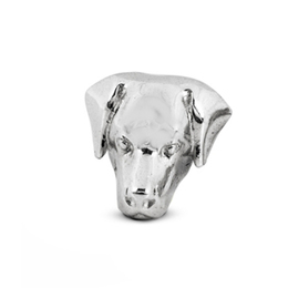 Labrador retriever dog breed pet owner gifts from dog fever jewelers Labrador dog head sterling silver earrings