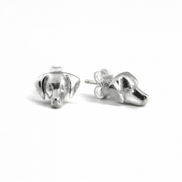 Dog Fever jewelers Weimaraner dog breed sterling silver fine quality gift for petowners.