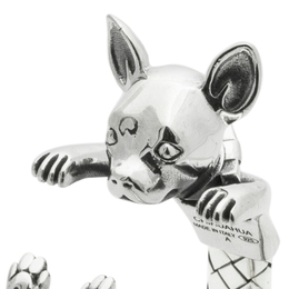 Chihuahua toy dog breed fine quality silver jewelry gifts from Dog Fever Jewelery hand made.