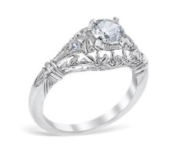 Vintage Edwardian Era Style Filigree Engagement Ring image 2