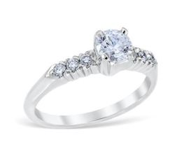 Antique Style Prong Set Classic Engagement Ring image 2