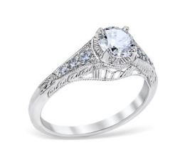 Vintage Flared Side Engagement Ring image 2