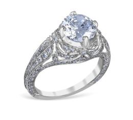 Vintage Diamond Dusted Engagement Ring image 2