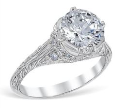 Vintage Round Crown Style Engagement Ring  image 2