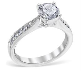 Vintage Milgrain and Channel Set Diamond Engagement Ring image 2