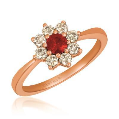 LeVian Passion Ruby with Nude Diamonds set in Strawberry Gold Ring image 2