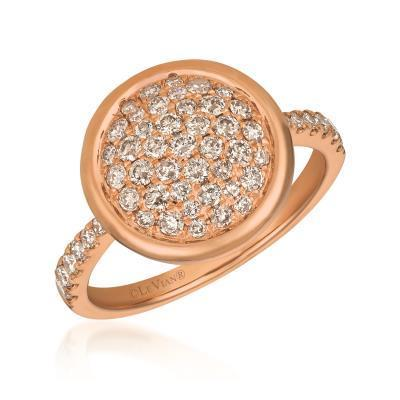 LeVian Nude Diamond Cluster Ring set in Strawberry Gold image 2