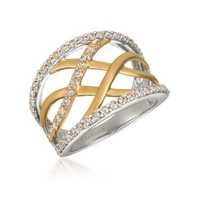 LeVian Vanilla and Honey Gold Two Tone Vanilla Diamond Ring image 2