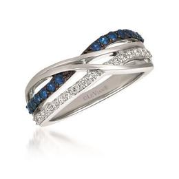 LeVian Blueberry Sapphires and Vanilla Diamonds Twisted Ring image 2