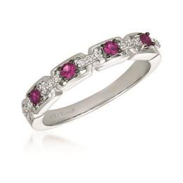 LeVian Passion Ruby and Vanilla Diamond Link Ring image 2