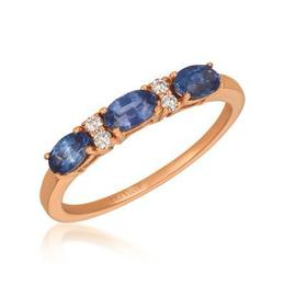 LeVian Blueberry Sapphire East West Oval Ring with Vanilla Diamond Accents image 2