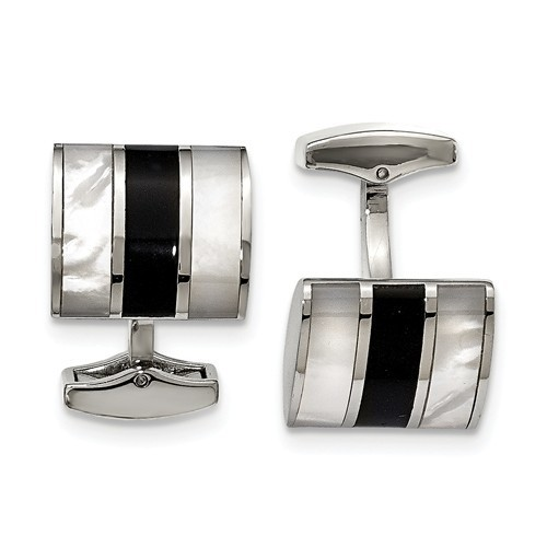Onyx and Mother of Pearl Cufflinks image 2