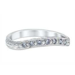 Vintage Inspired Leaf Engraved Wedding Band image 2