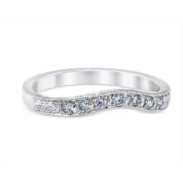 Floral Lead Vintage Inspired Wedding Band image 2
