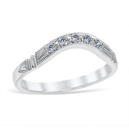 Vintage Edwardian Inspired Diamond Band image 2