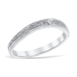 Vintage Lace Engraved Wedding Band image 2