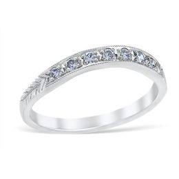 Vintage Rosario Diamond Wedding Band image 2