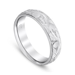 Scroll Work Vintage Wedding Band image 2