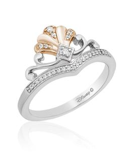 Ariel Silver With Pink Plating Tiara Ring image 2