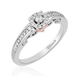 Ariel 14k White and Rose Gold Promise Ring image 2