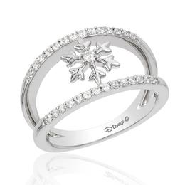 Elsa Silver Snowflake Fashion Ring image 2