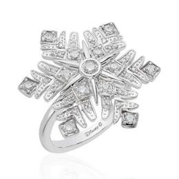 Elsa 14K White Gold Snowflake Fashion Ring image 2