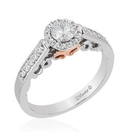 Ariel 14Kt White/Rose Gold Bridal Ring image 2