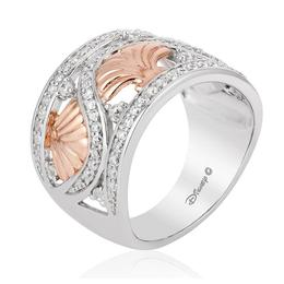 Ariel Silver/10Kt Rose Gold Shell Band image 1