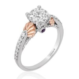 Ariel 14Kt White/Rose Gold Composite Bridal Ring image 2