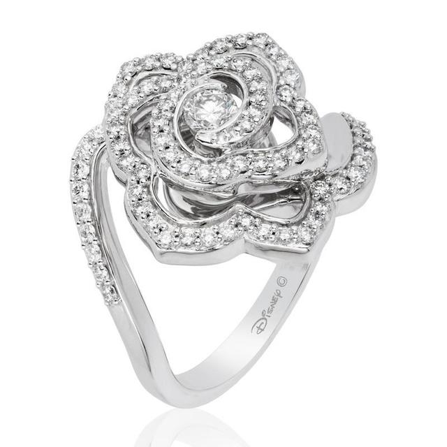 Belle 14Kt White Gold Rose Fashion Ring image 2