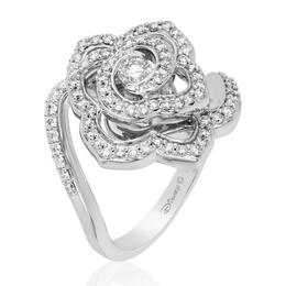 Belle 14Kt White Gold Rose Fashion Ring image 1
