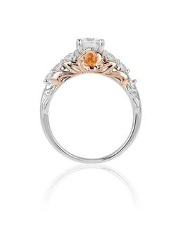 Belle 14Kt White/Rose Gold Rose Bridal Ring image 3