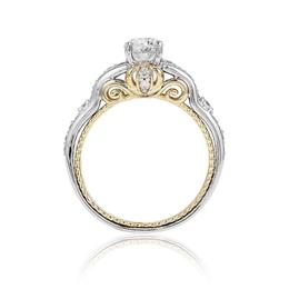 Cinderella 14k White /Yellow Gold Carriage Bridal Ring image 3