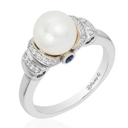 Cinderella Silver Carriage Pearl Ring image 2