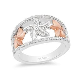 Ariel Silver/10K Rose Gold Starfish Ring image 2