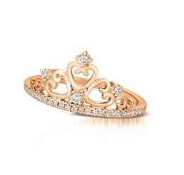 LeVian Strawberry Gold Tiara Diamond Ring image 2