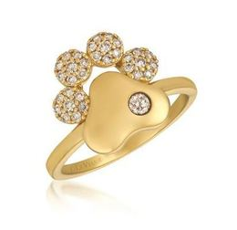 LeVian Honey Gold Paw Ring with Nude and Vanilla Diamonds image 2