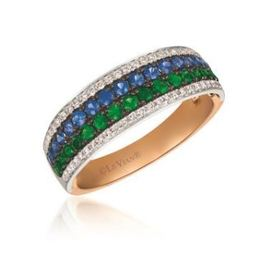 LeVian Two Tone Green Garnet Blueberry Sapphire and Vanilla Diamonds image 2